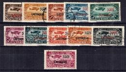 Lattaquié Poste Aérienne Maury N° 1/10 Oblitérés. B/TB. A Saisir! - Lattaquie (1931-1933)