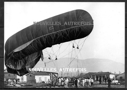 PHOTO RETIRAGE ( PAR LE ECPA ) BALLON OBSERVATION DE 1916 - TOULON : LA RENTREE DU BALLON D'OBSERVATION. - Guerre, Militaire