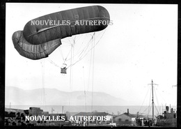 PHOTO RETIRAGE ( PAR LE ECPA ) BALLON OBSERVATION DE 1916 - TOULON : RETOUR D'UN BALLON D'OBSERVATEUR. - Guerre, Militaire