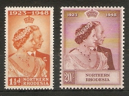 NORTHERN RHODESIA 1948 SILVER WEDDING SET UNMOUNTED MINT Cat £110+ - Northern Rhodesia (...-1963)