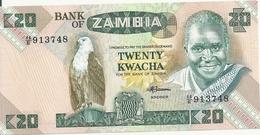 ZAMBIE 20 KWACHA ND1980-88 UNC P 27 E - Zambie