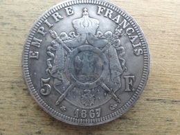 France  5  Francs  1867 A  Km 799.1 - France