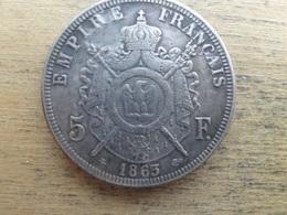 France  5  Francs  1863 A  Km 799.1 - Francia