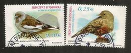 Oiseaux Accenteur Alpin & Niverolle Alpine, Deux Timbres Oblitérés, 1 ère Qualité - Used Stamps