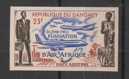 Dahomey - 1962 - PA N°Yv. 21 - Air Afrique - Non Dentelé / Imperf. - Neuf Luxe ** / MNH / Postfrisch - Vliegtuigen