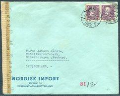 1941 Denmark Nordisk Import Copenhagen Censor Cover - Schwenningen Germany - Covers & Documents