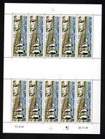 TAAF -- P.A. N°124    De Bernard BUFFET -   FEUILLE De 10 Timbres à 25,70 Fr - Unused Stamps