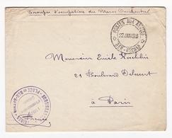 Lettre 1913 Place De Ber Rechid Troupes D'Occupation Du Maroc Occidental Postes Aux Armées Subsistances Militaires - Lettres & Documents