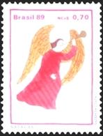 BRAZIL #2215-16  Christmas Angel   1989  MINT - Brazil