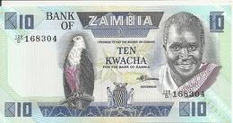 ZAMBIE 10 KWACHA ND1980-88 UNC P 26 E - Zambie