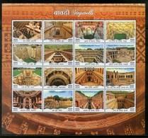 India 2017 Step Wells Ancient Baori Architecture Mix Sheetlet MNH - Architecture