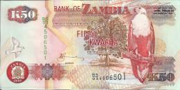ZAMBIE 50 KWACHA 2009 AUNC P 37 H - Zambie