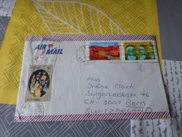 Timbre Australie Sur Enveloppe Vers La Suisse Air Mail Par Avion - 1966-79 Elizabeth II