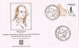33416. Carta Exposicion TORDERA (Barcelona) 1985. Entidades Federadas Catalunya - 1931-Hoy: 2ª República - ... Juan Carlos I