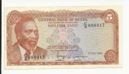 Kenya 5 Shilingi 1978 Almost EF - Kenia