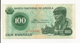 Angola 100 Kwanzas 1976 Almost EF - Angola