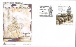 33417. Carta F.D.C. ANDORRA La VIEJA (Andorra Española) 1999. Correo Seo De Urgel A Andorra - Cartas