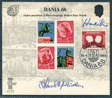 1968 Denmark DANIA 68 Slania Stamp Exhibition Card - Denemarken