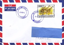 Z] Enveloppe Cover 2014 Burundi Faune Africaine African Fauna Girafe Giraffe - Unclassified