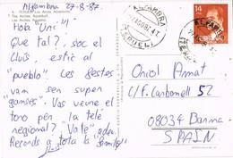33418. Postal ALFAMBRA (Teruel) 1987. Vista De Los Arcos, Acueducto De Teruel - 1931-Hoy: 2ª República - ... Juan Carlos I