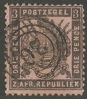 Transvaal 1883. 3d Grey-black/rose. SACC 175, SG 172. Standarton Cancel. - Sud Africa (...-1961)