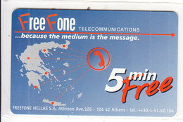 GREECE - Free Fone Promotion Prepaid Card, Tirage 15000, Exp.date 31/12/01, Mint - Greece