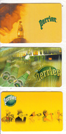 GREECE - Set Of 3 Cards, Perrier, Free Fone By Vivodi Promotion Prepaid Cards, Tirage 1000, Exp.date 31/07/02, Mint - Greece