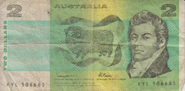 2 Dollars - 1974-94 Australia Reserve Bank (papier)