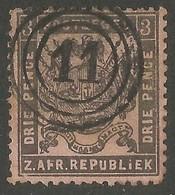 Transvaal 1883. 3d Grey-black/rose. SACC 175, SG 172. Utrecht Cancel. - Sud Africa (...-1961)