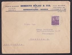 Brazil: Cover To Germany, 1938, 1 Stamp, Porto Alegre (minor Damage, See Scan) - Brieven En Documenten