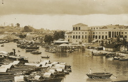 Real Photo Singapore Boat Quay  P. Used 1932 To Algiers Alger - Singapore