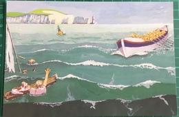 Ready! Aye! Ready! ~ Artwork By Reg A. Chapman ~ Depicting Lifeboat - Ships