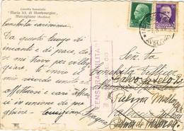 33420. Postal MERCOGLIANO (Avellino) 1939. CENSURA Militar VALENCIA, Guerra Civil. Reexpedida - 1931-50 Cartas