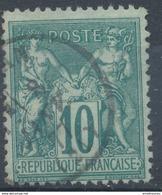 N° 76 N/U NUANCE ET OBLITERATION. - 1876-1898 Sage (Type II)