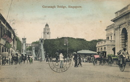 Singapore Cavanagh Bridge    P. Used  Hand Colored - Singapore