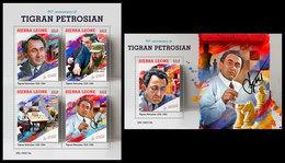 SIERRA LEONE 2019 - Tigran Petrosian. M/S + S/S Official Issue - Schach