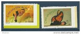 "FR Adhesif YT 40 & 41 (3634 & 3635) "" Pour Naissances "" 2004 Neuf** - France"