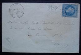 Saint Pierre D'Albigny (savoie) GC 3807 1870 Lettre Pour Lucile Revillod Chez La Comtesse Périn De Lépin à Chambéry - Postmark Collection (Covers)