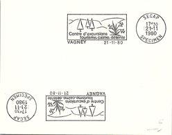 SPECIMEN SECAP - VAGNEY CENTRE D'EXCURSIONS TOURISME CALME DETENTE  - 21.11.1980  /2 - 2 - Marcofilia (sobres)
