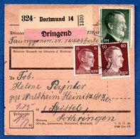 Colis Postal  -  De Dortmund   - Pour Waldheim - Briefe U. Dokumente