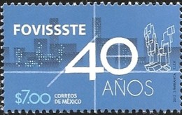 J) 2012 MEXICO, 40 YEARS OF FOVISSSTE, MNH - Mexico