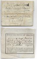 AN 9 - ARMEE De MAYENCE (ALLEMAGNE) - LETTRE D'un CAPORAL => CHAROLLES SAONE ET LOIRE + RECU De POSTES ARTICLE De VALEUR - 1792-1815: Conquered Departments