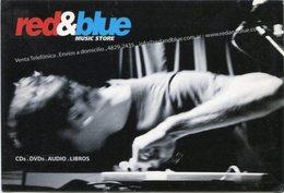 RED & BLUE MUSIC STORE EN SUM. VENTA DE CDs DVDs AUDIO LIBROS. ARGENTINE POSTALE PUBLICITE CIRCA 2000's - LILHU - Música Y Músicos