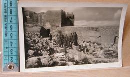 MONDOSORPRESA,  CARTOLINA FOTOGRAFICA, RODI  CASTELLO DI  LINDOS, 1916, ANIMATA, NON VIAGGIATA - Grecia