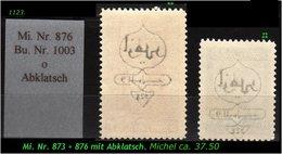 EARLY OTTOMAN SPECIALIZED FOR SPECIALIST, SEE....Mi. Nr. 873 + 76 Mit Zarten Abklatsch - Ungebraucht
