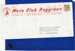 ##(DAN197)-Italia 1972-Busta Intestata Moto Club Reggiano Da Reggio Emilia A Moto Club Trento - Motorbikes