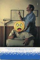 YAHOO! MESSENGER PARA SMS, CELULARES PERSONAL. NUEVO LENGUAJE EMOJIS. ARGENTINA POSTAL PUBLICIDAD CIRCA 2000's - LILHU - Publicidad