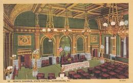 P A - Pennsylvania : HARRISBURG : Senate Chamber, State Capitol ( Colorisée - Toilée ) - Harrisburg