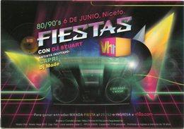VH1 FIESTAS CON DJ STUART, CAPRI, DJ MODE. EN NICETO, ARGENTINA. POSTAL PUBLICIDAD AÑO 2009 NO CIRCULADO - LILHU - Baile