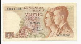 Belgium 50 Francs 1966 EF - [ 2] 1831-... : Belgian Kingdom
